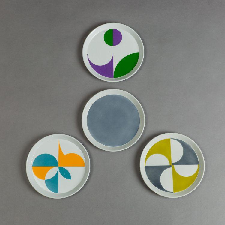Set of 4 Ceramic Plates by Gio Ponti for Ceramica Franzo Pozzi | soyun k.