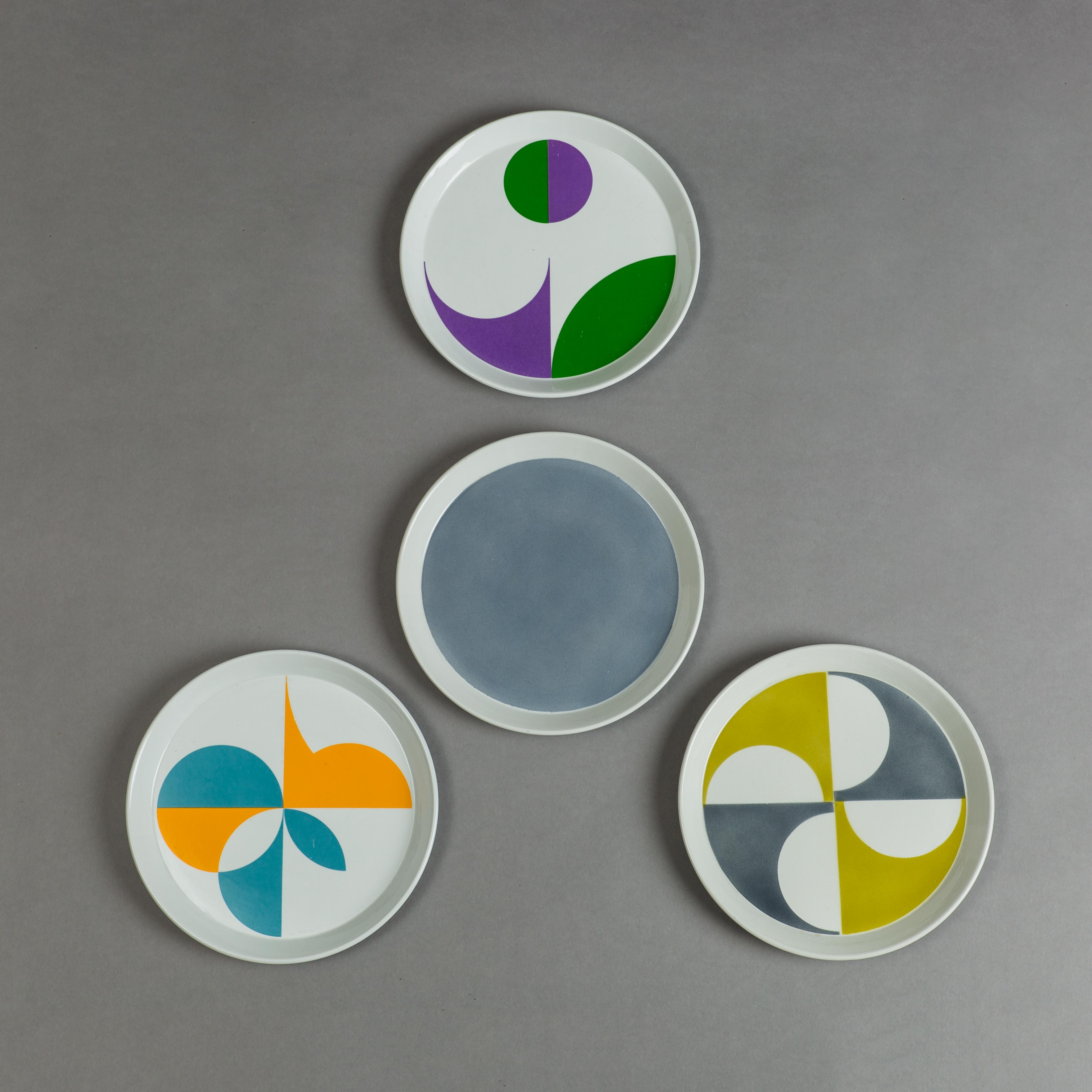 Set of 4 Ceramic Plates by Gio Ponti for Ceramica Franzo Pozzi   soyun k.
