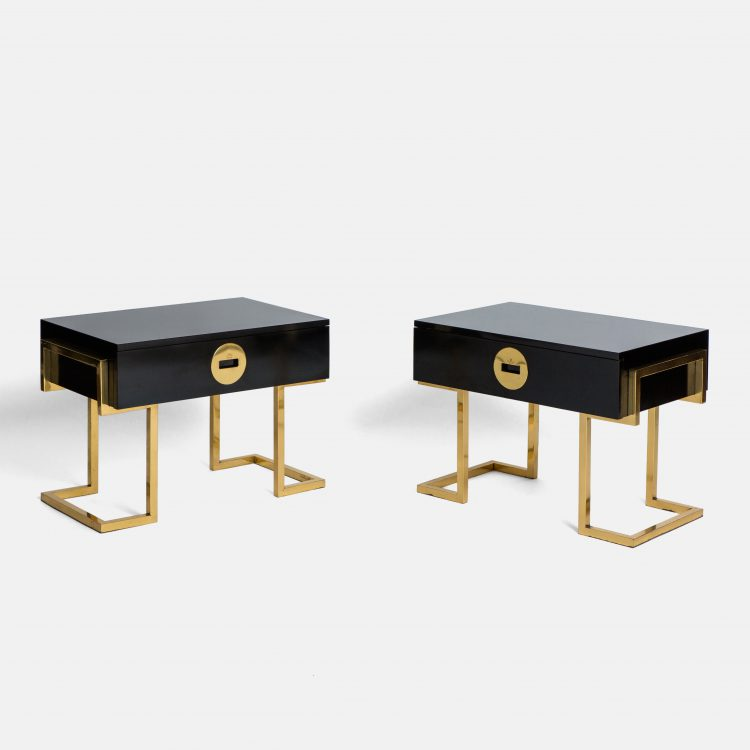 Pair of Rare Sculptural Side Tables by Romeo Rega, signed | soyun k.