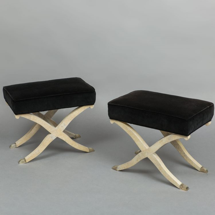 Pair of Parchment Stools by  | soyun k.