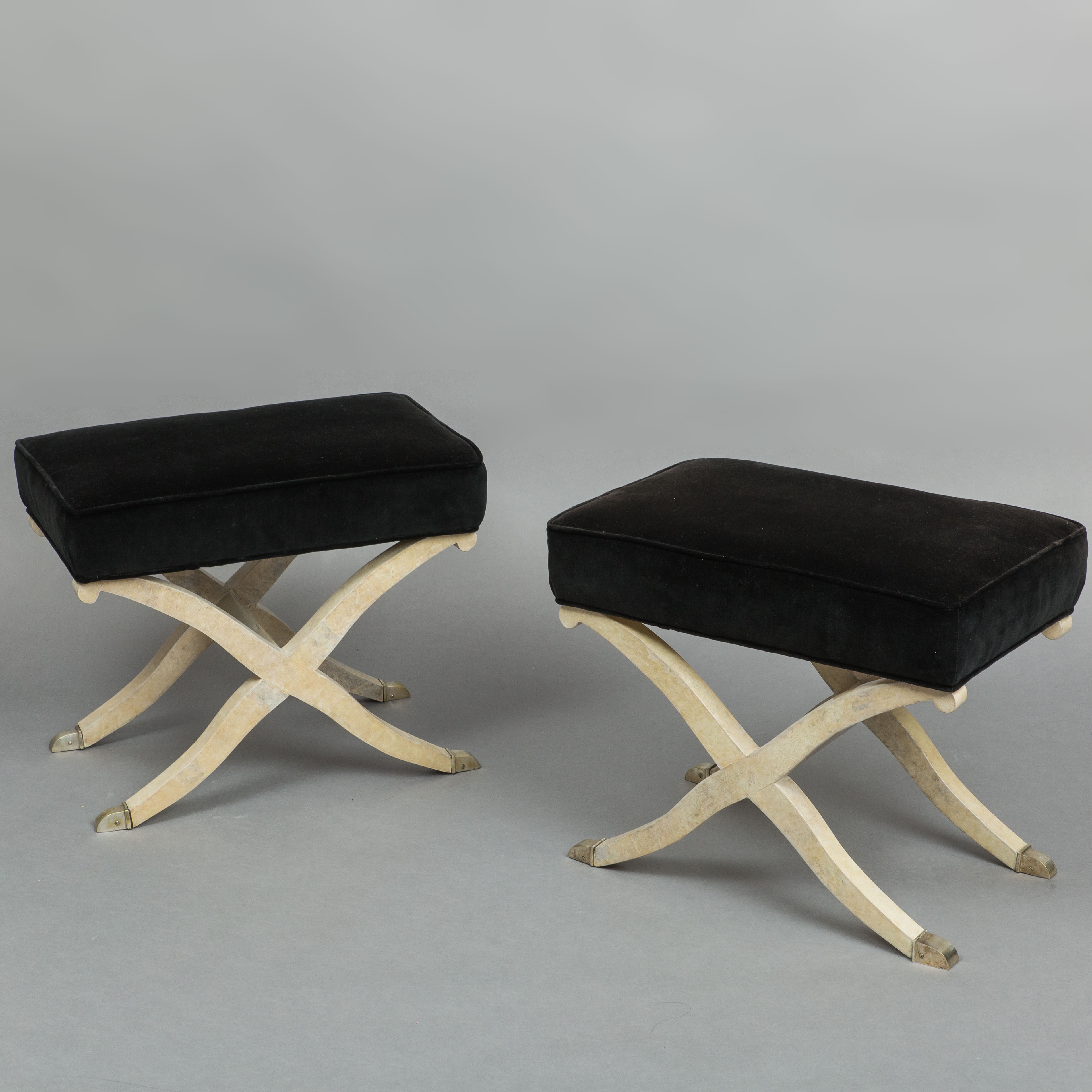 Pair of Art Deco Parchment Stools by  | soyun k.