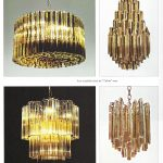 Tiered Amber and Clear Glass Chandelier from Trilobo Series by Venini | soyun k.