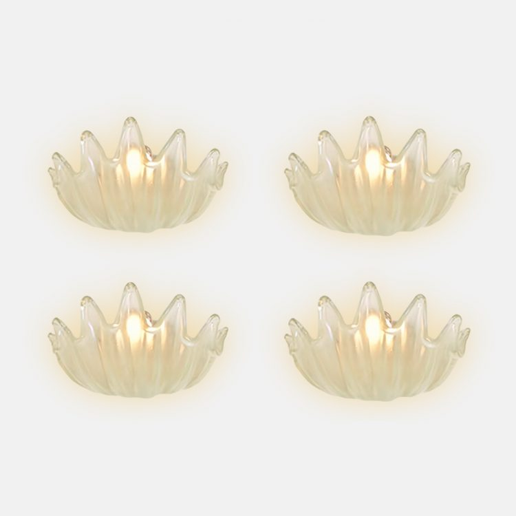 Rare Set of Four Clam Shell Sconces by Ercole Barovier for Barovier & Toso | soyun k.