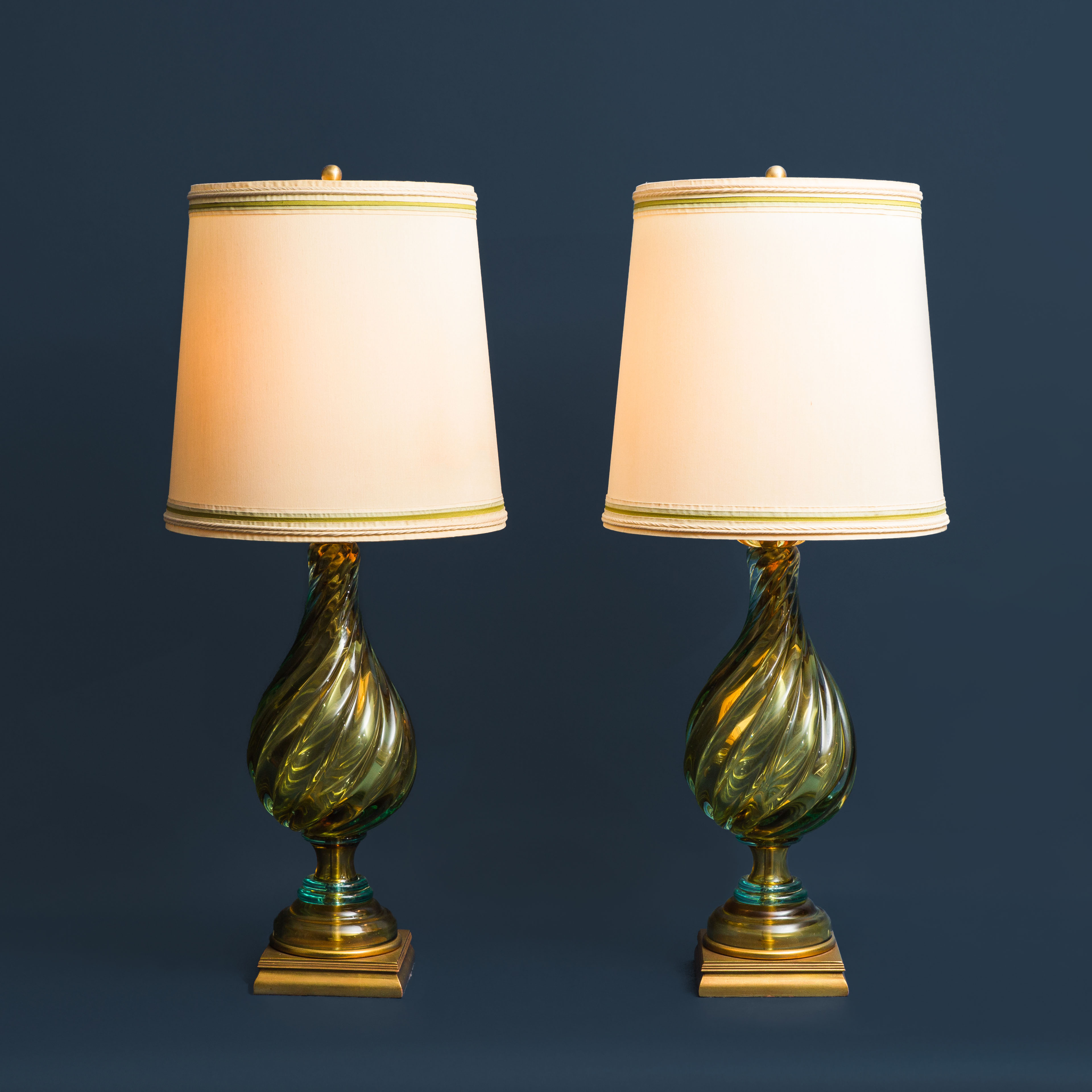 Pair of Table Lamps by Seguso for Marbro | soyun k.