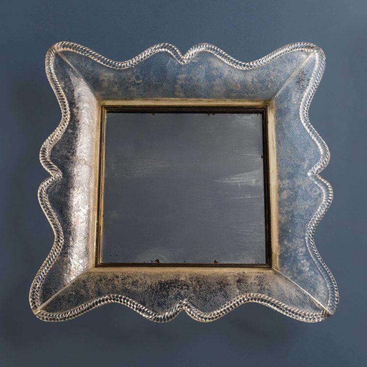 Rare Smoked Glass Mirror by Seguso Vetri d'Arte | soyun k.