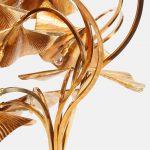 Rare 10-leaf Ginkgo Floor Lamp by Carlo Giorgi for Bottega Gadda | soyun k.