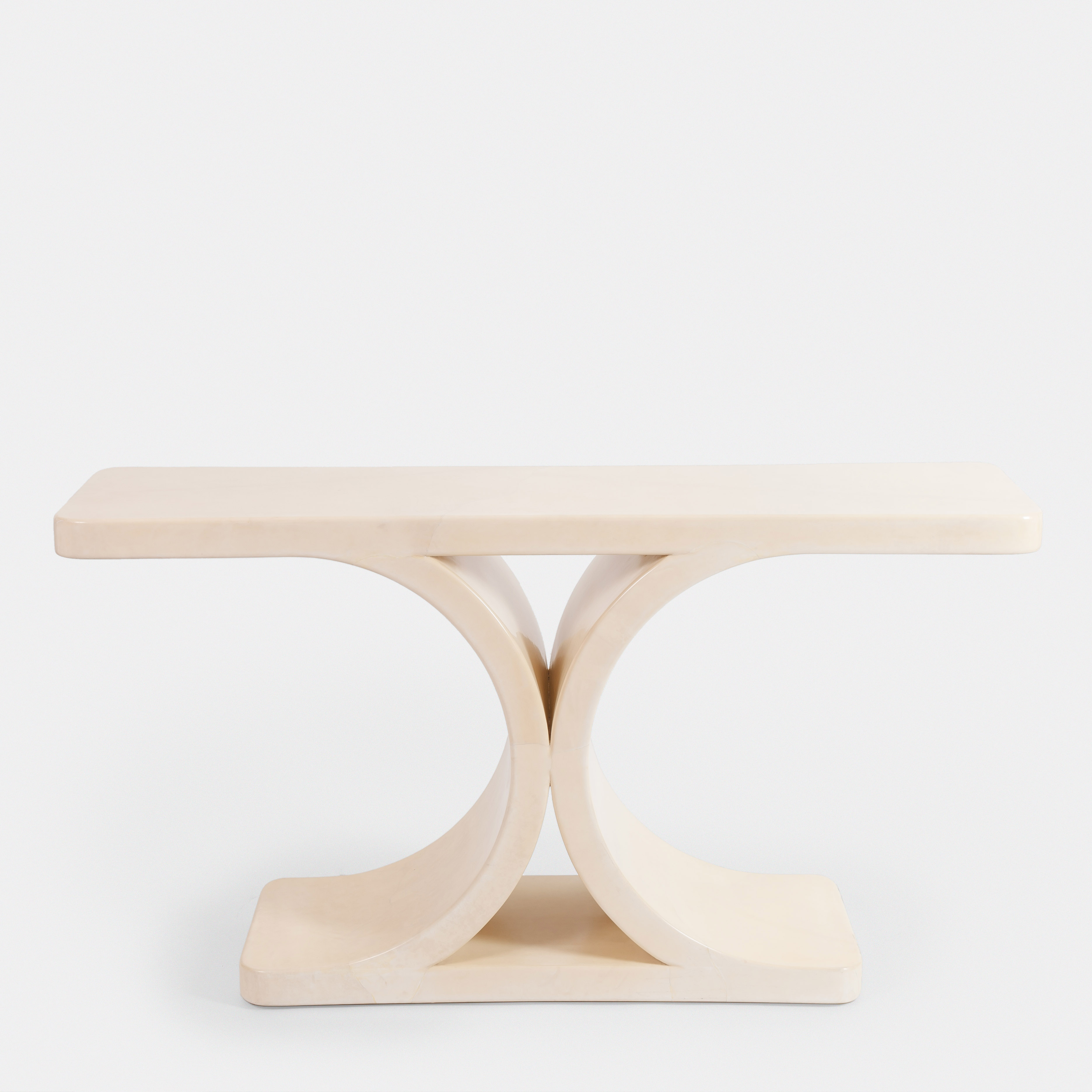 Lacquered Parchment Console by Karl Springer   soyun k.
