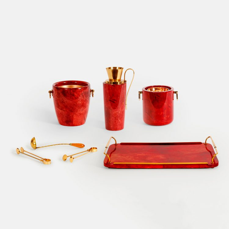 Set of 7 Bar Accessories by Aldo Tura | soyun k.