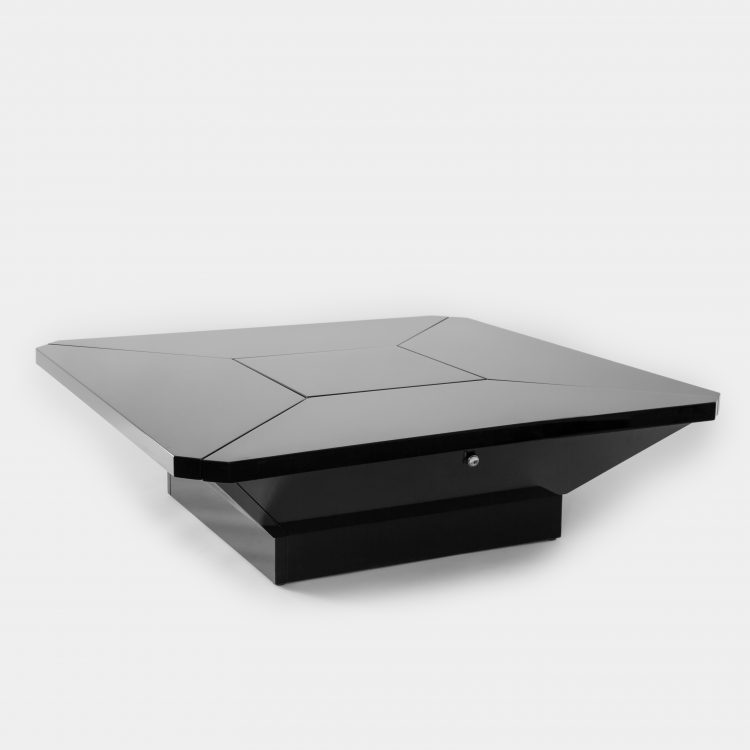 'Petales' Black Lacquer Coffee Table by Maison Jansen | soyun k.
