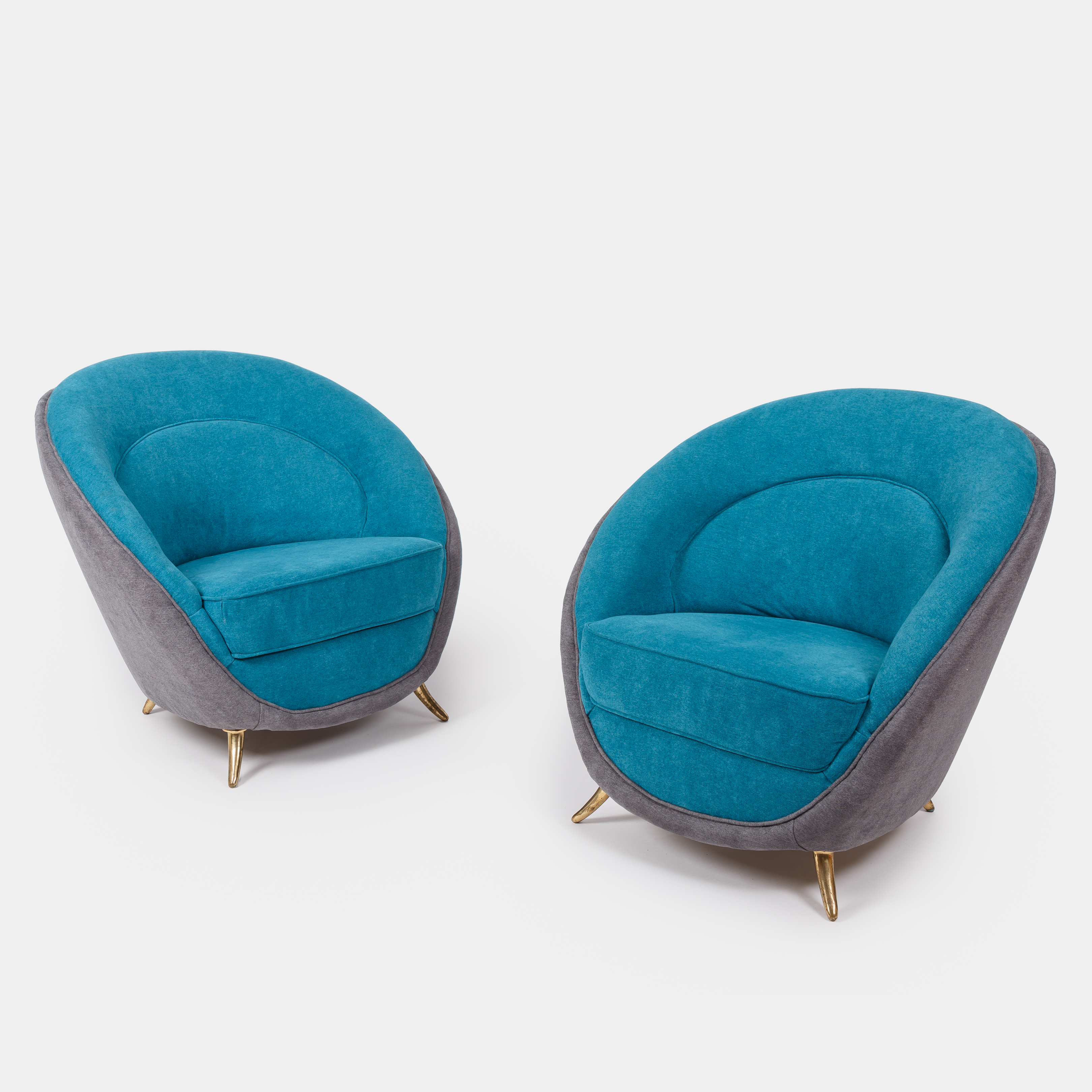 Pair of Armchairs by Guglielmo Veronesi for I.S.A. | soyun k.