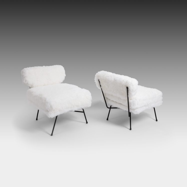 Early Pair of 'Elettra' Lounge Chairs by BBPR for Arflex | soyun k.