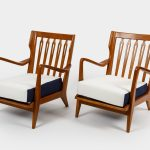 Pair of Walnut Armchairs, Model 516 by Gio Ponti   soyun k.