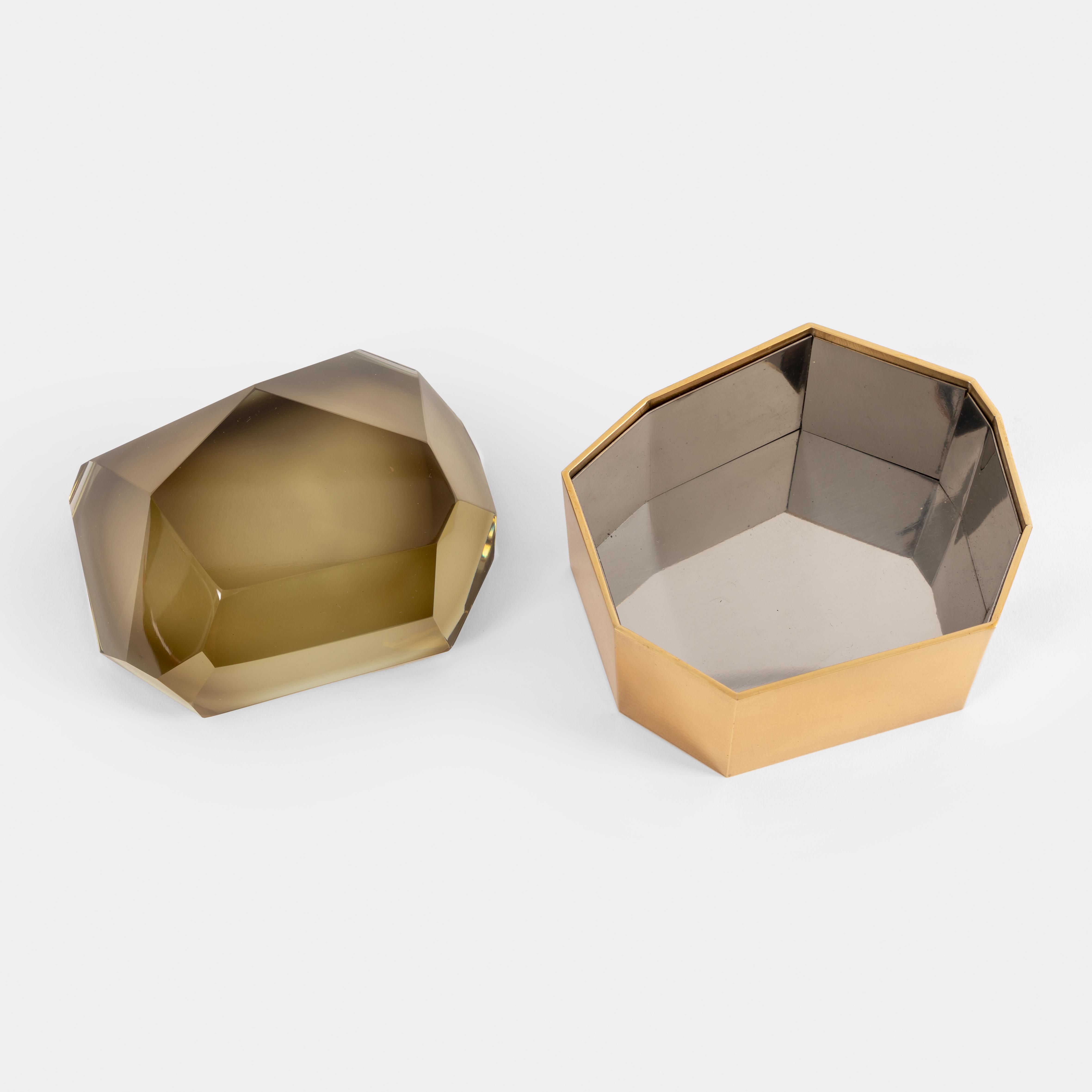 Smokey 'Diamante Murano' Glass Box by Roberto Giulio Rida | soyun k.