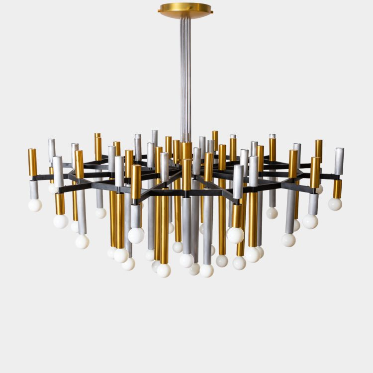 Important Large 43-Light Chandelier, Model 1155/43 by Stilnovo | soyun k.