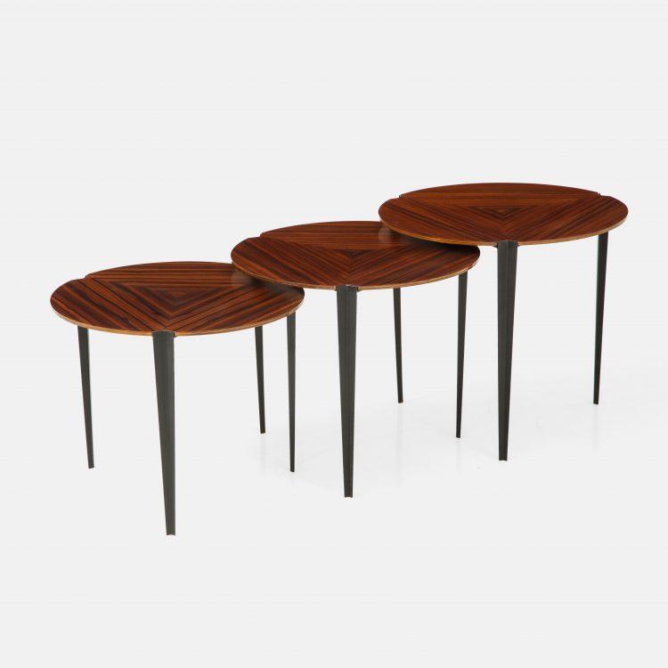 Set of 3 Nesting Tables Model T61 by Osvaldo Borsani for Tecno | soyun k.