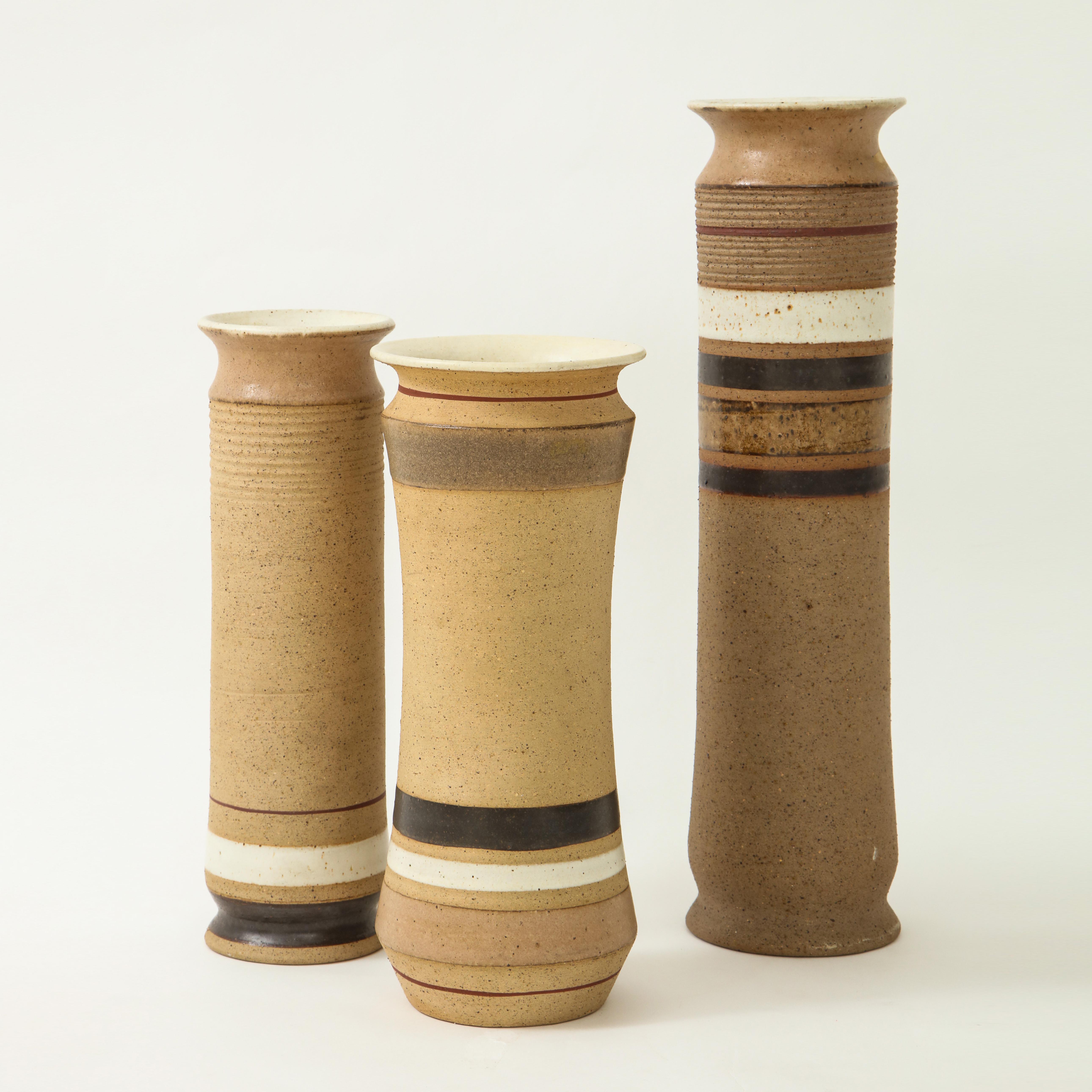 Set of 3 Ceramic Vases by Bruno Gambone | soyun k.