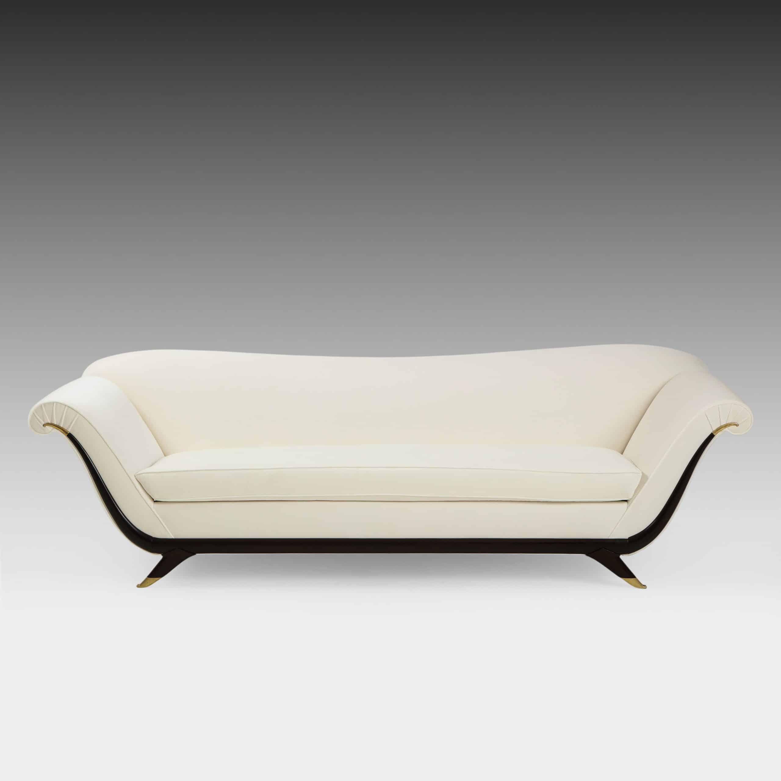 Ivory Velvet Sofa by Guglielmo Ulrich, attributed to | soyun k.