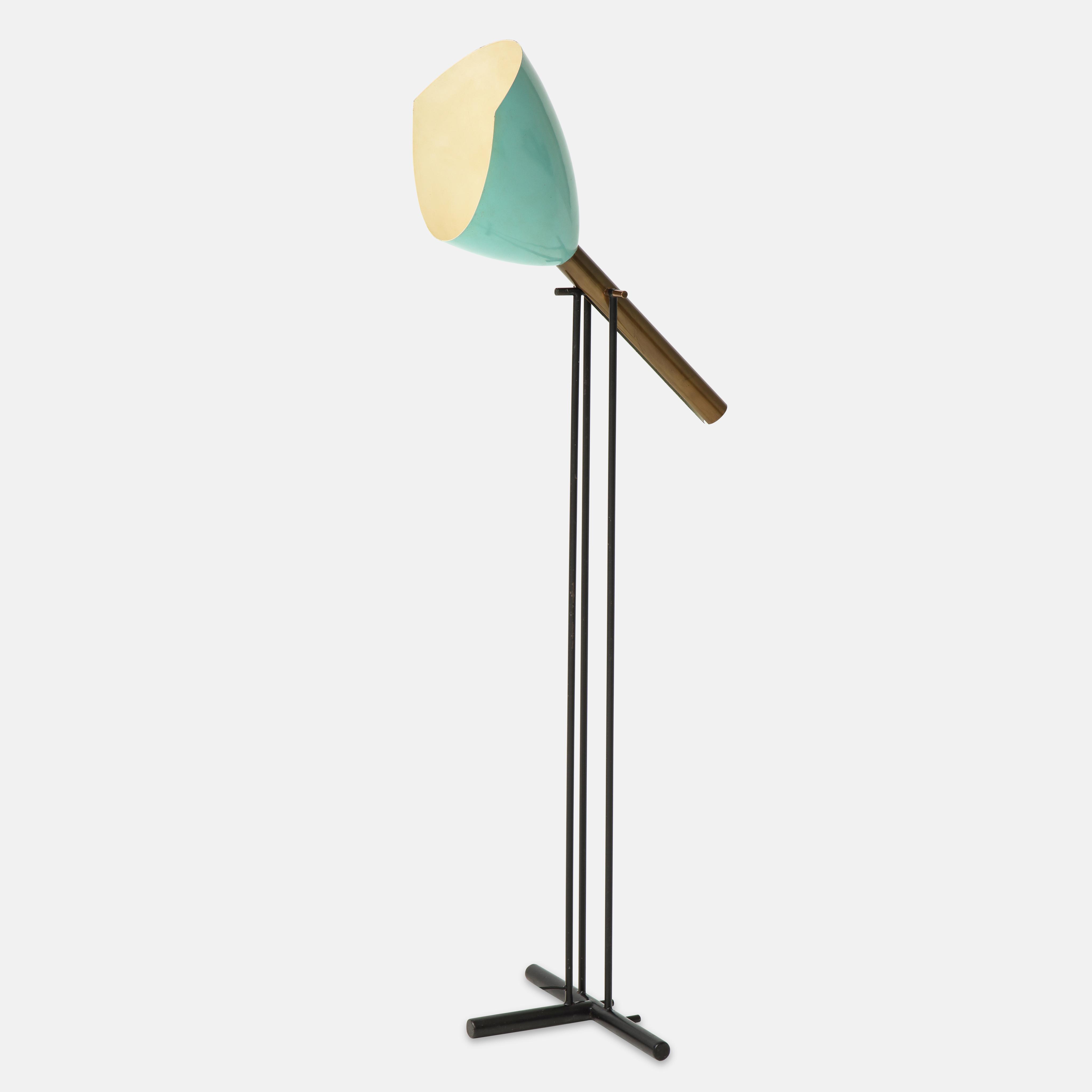 Rare 'Televisione' Floor Lamp Model 12627 by Angelo Lelii for Arredoluce | soyun k.