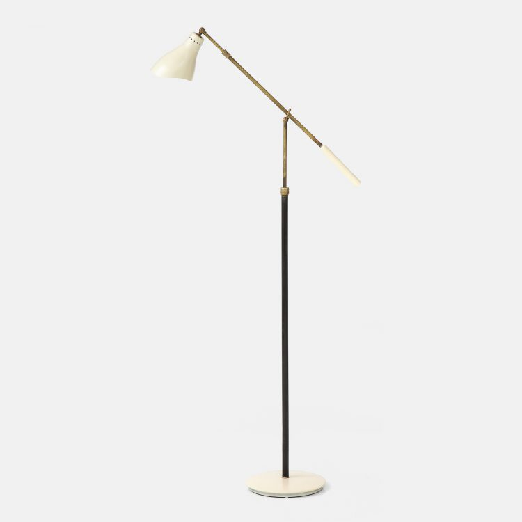 Rare Articulating Floor Lamp by Angelo Lelii for Arredoluce   soyun k.