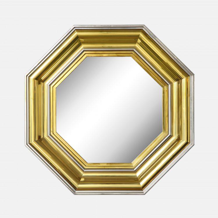 Large Octagonal Mirror by Sandro Petti for Maison Jansen | soyun k.