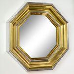 Pair of Large Octagonal Mirrors by Sandro Petti for Maison Jansen | soyun k.