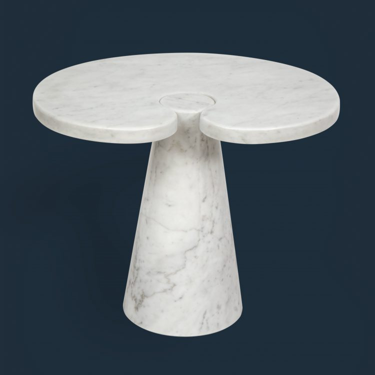 Carrara Marble Side Table from 'Eros' Series, Model P90 by Angelo Mangiarotti for Skipper | soyun k.