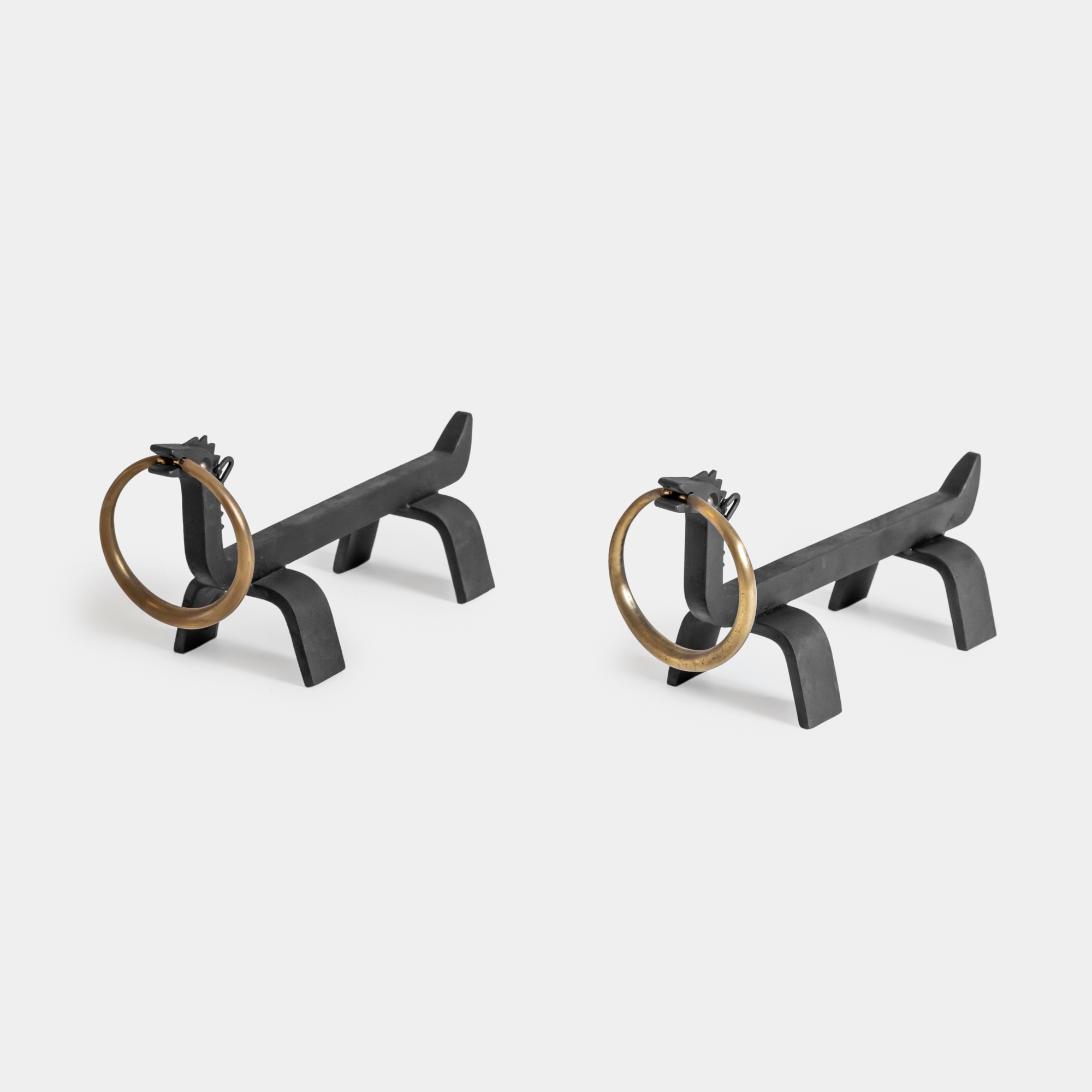 Pair of Andirons by Osvaldo Borsani for Arredamenti Borsani | soyun k.