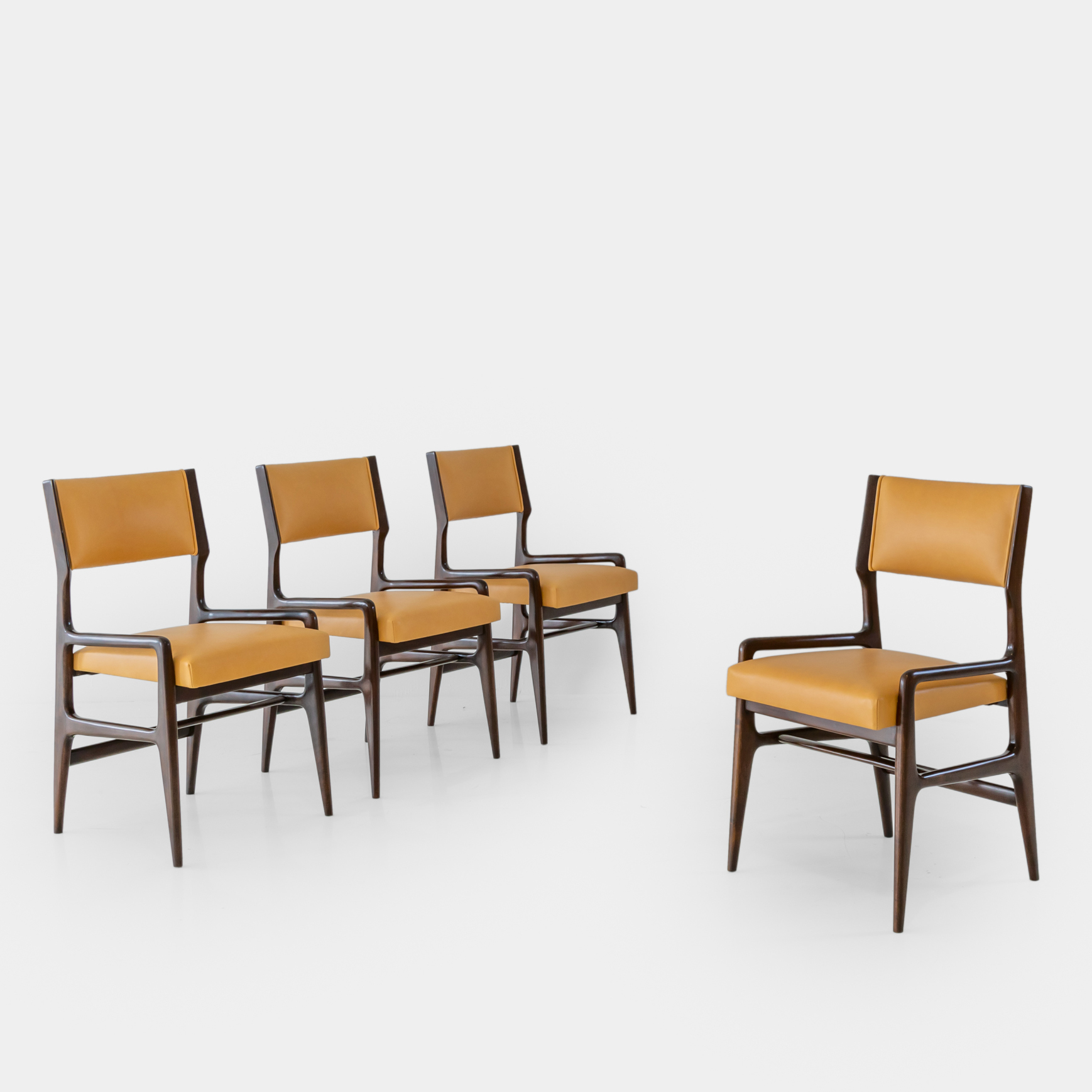 Set of Four Rare Dining Chairs by Gio Ponti for Cassina | soyun k.