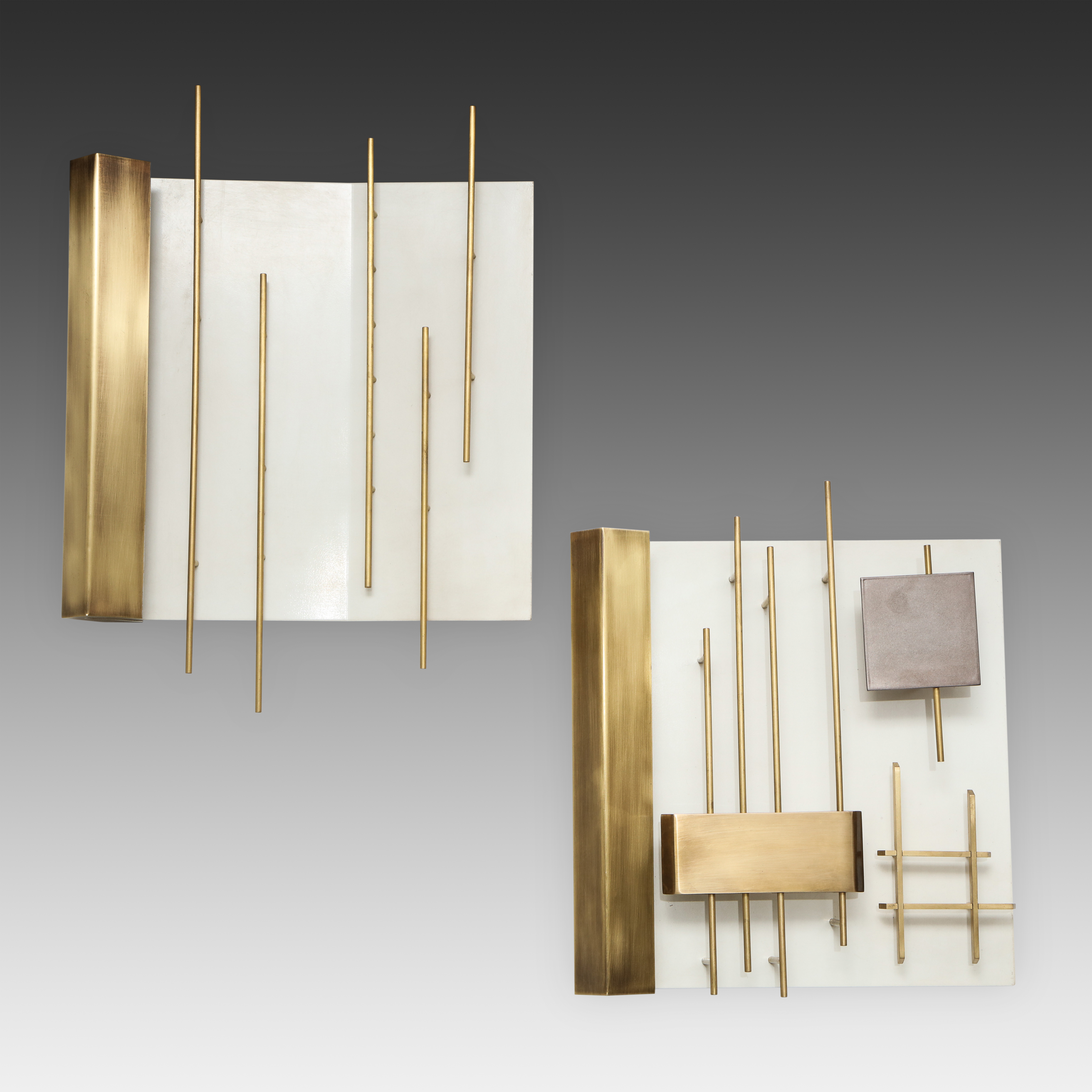 Pair of 'Quadri Luminosi' Sconces Models 575 & 576 by Gio Ponti for Lumi   soyun k.