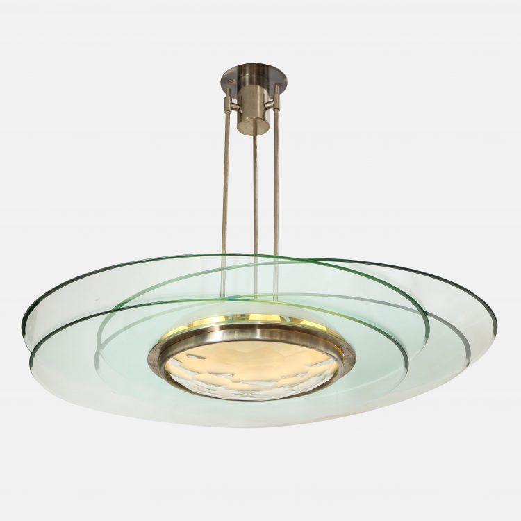 Rare Chandelier Model 2127 by Max Ingrand for Fontana Arte | soyun k.