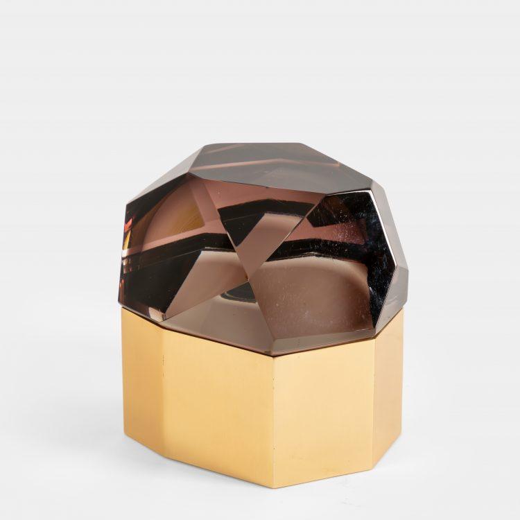Amethyst 'Diamante Murano' Glass Box by Roberto Giulio Rida   soyun k.