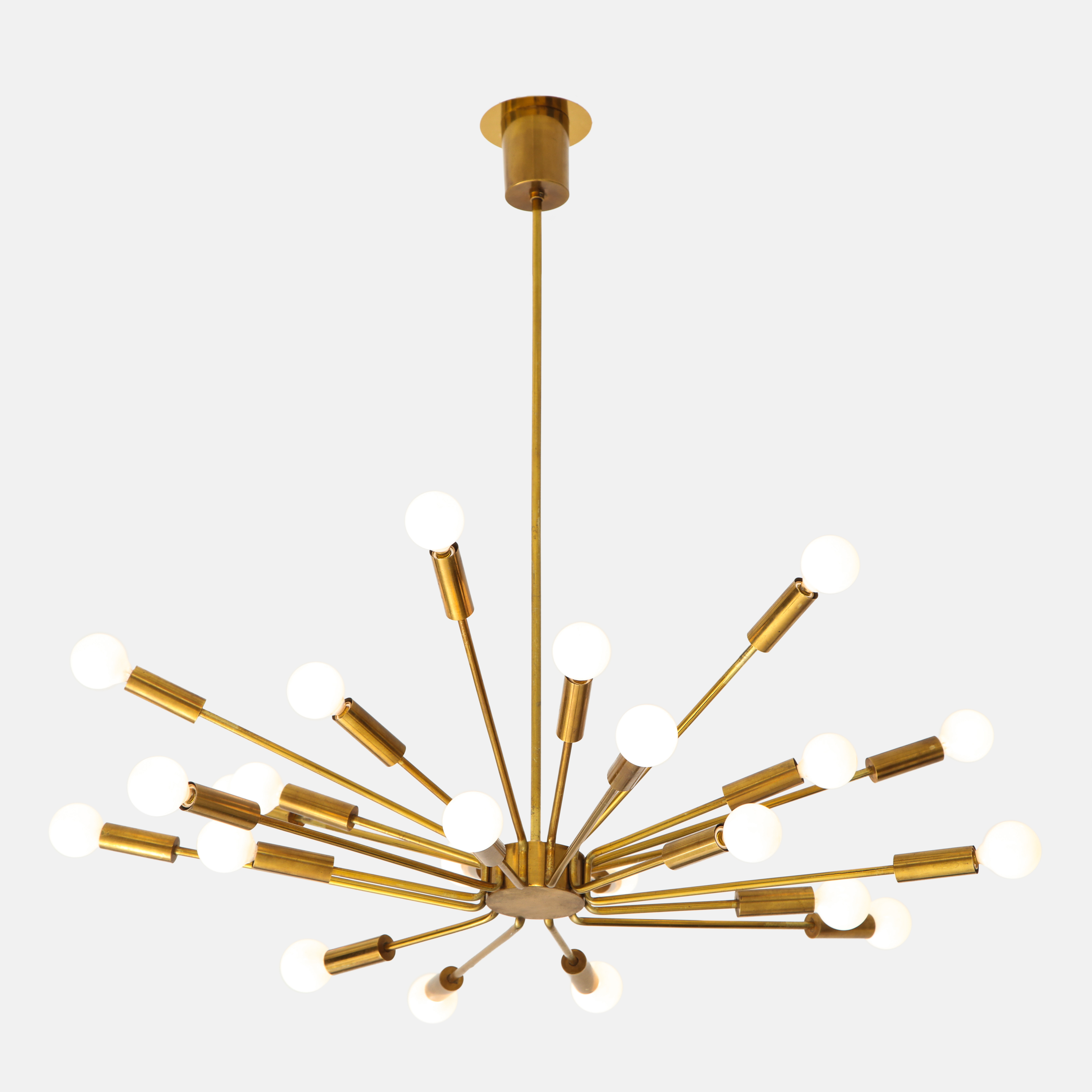 Rare 'Fuoco d'artificio' Sputnik Chandelier by Gino Sarfatti for Arteluce | soyun k.