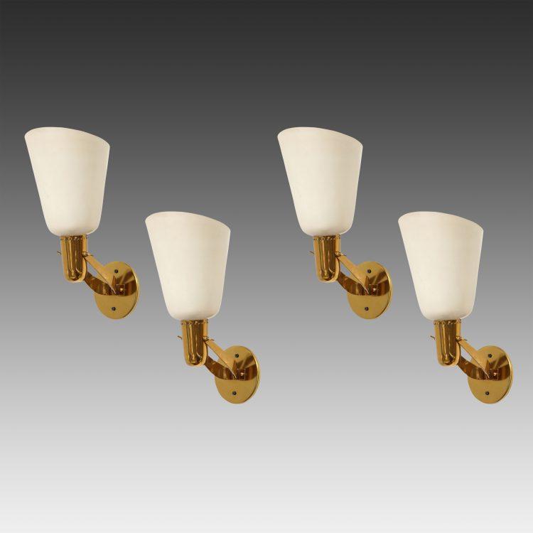 Rare Set of 4 Sconces Model 121 by Gino Sarfatti for Arteluce | soyun k.