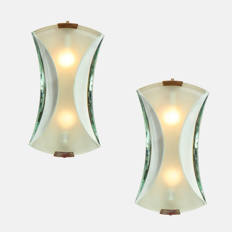Pair of Sconces Model 2225 by Max Ingrand for Fontana Arte | soyun k.