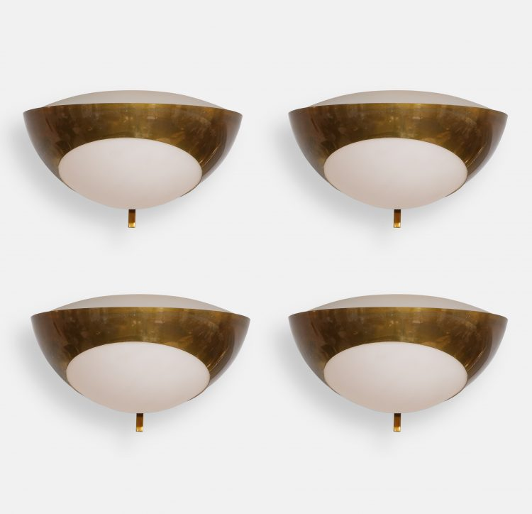Set of Four Large Sconces Model 1963 by Max Ingrand for Fontana Arte | soyun k.