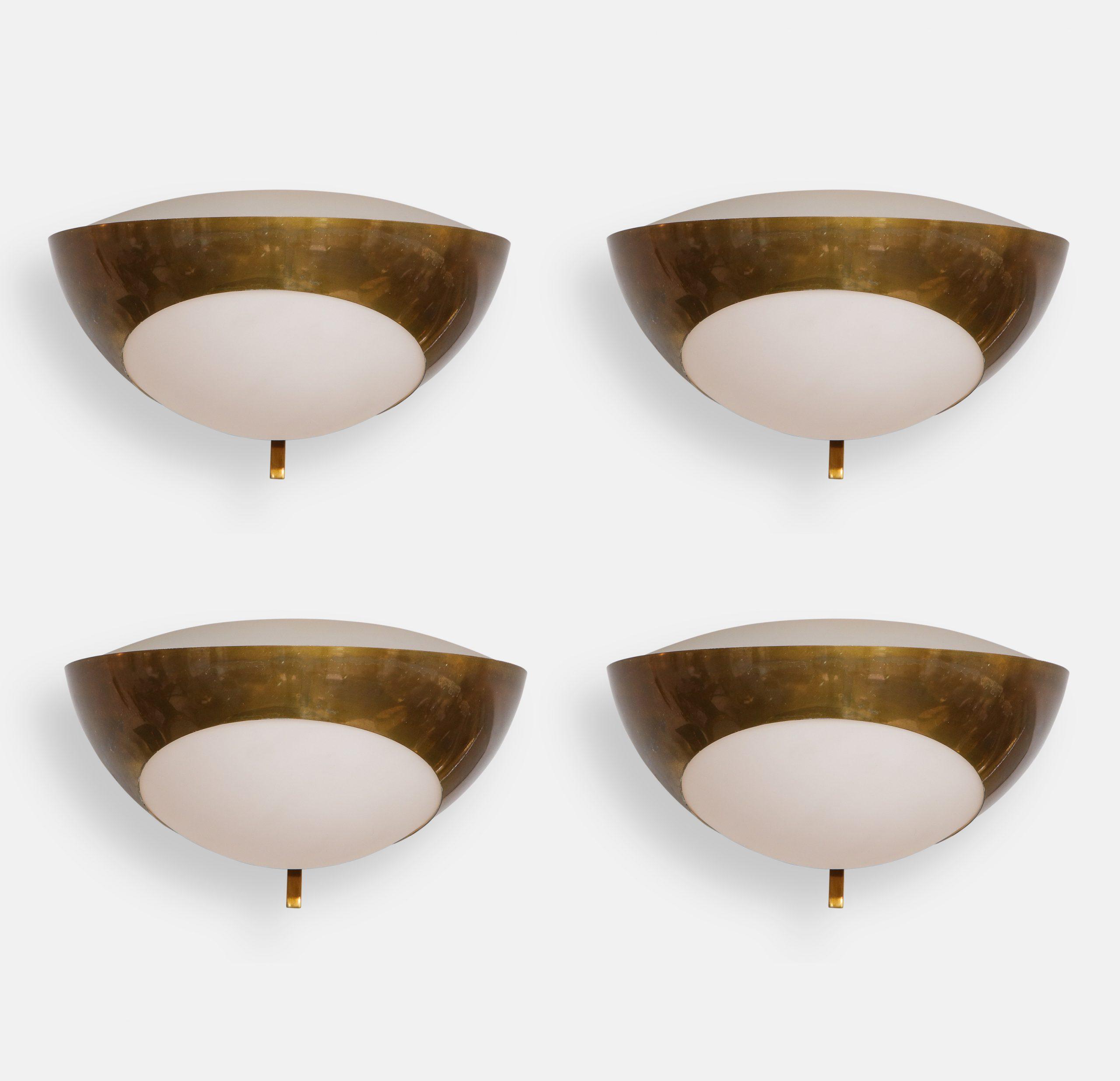 Set of Four Large Sconces Model 1963 by Max Ingrand for Fontana Arte | soyun k.