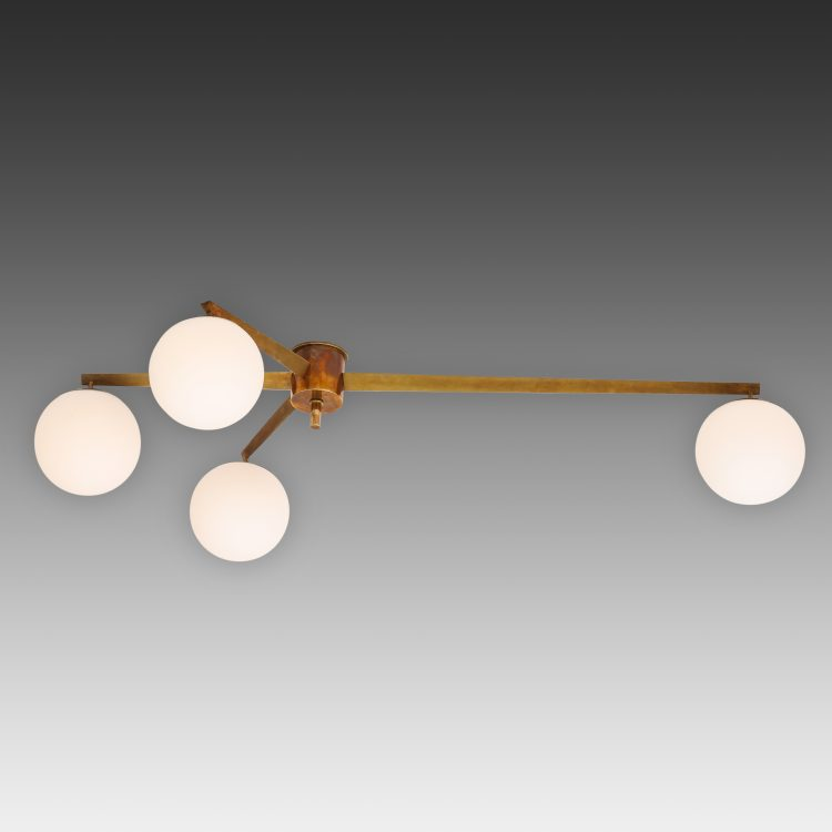 Stella 4 Lune Ceiling Light or Chandelier by Angelo Lelii for Arredoluce | soyun k.