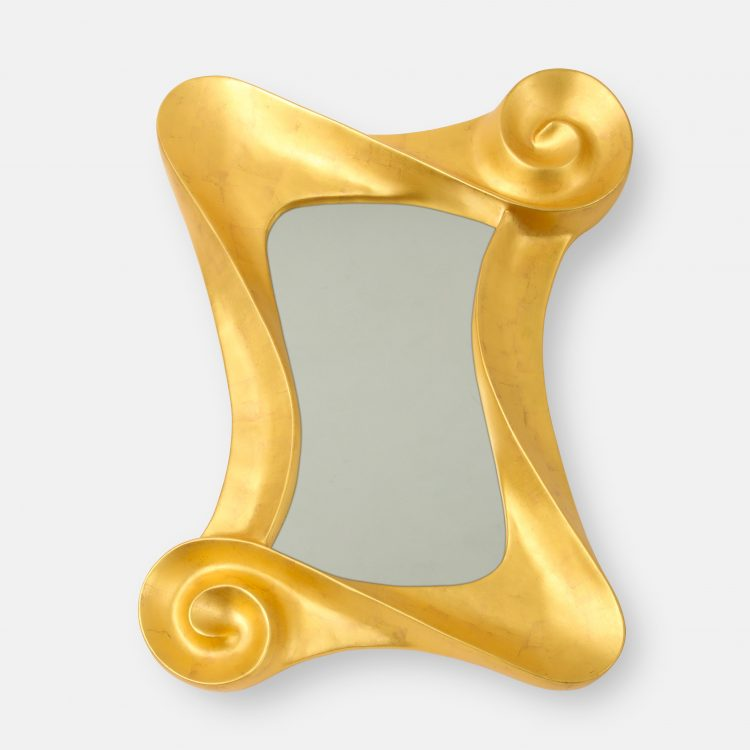 """Sonata in Gold"" 24 Karat Gold Leaf Mirror by Lawrence De Martino 