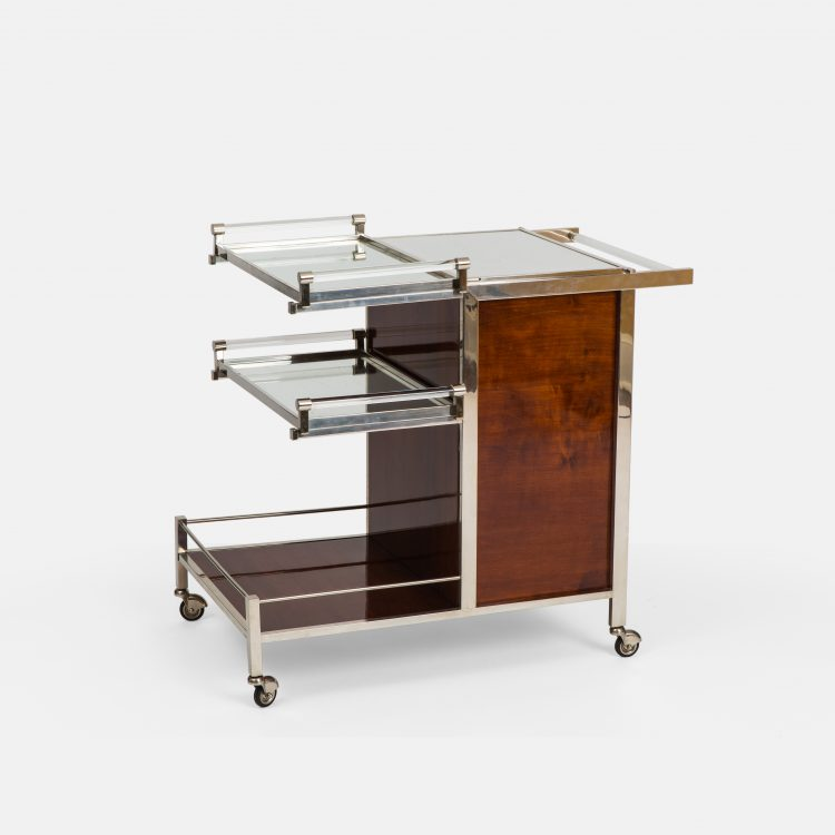 Art Deco Palissander Bar Cart by Jacques Adnet | soyun k.