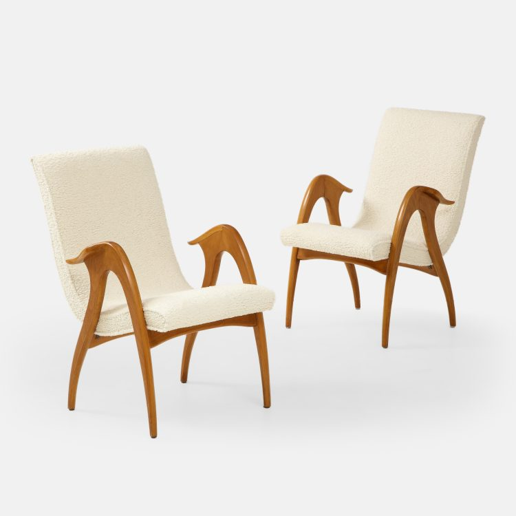 Pair of Sculptural Armchairs by Malatesta and Mason | soyun k.