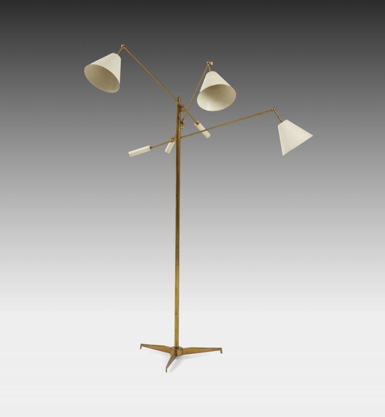 Triennale Floor Lamp Model 12128 by Angelo Lelii for Arredoluce | soyun k.