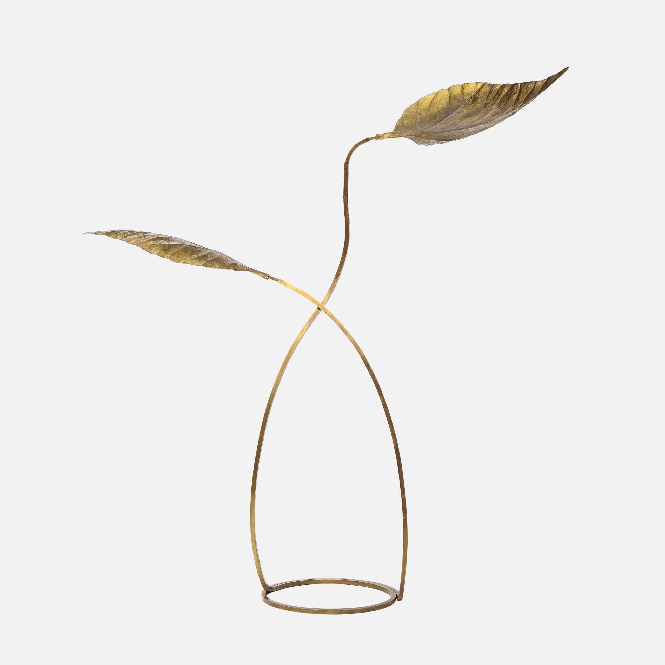 'Rabarbaro' Two-Leaf Floor Lamp by Carlo Giorgi for Bottega Gadda   soyun k.